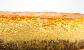 Cheesecake z banią zdjęcia stock