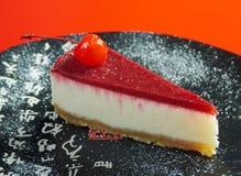 Cheesecake z czekoladą .closeup Zdjęcia Royalty Free