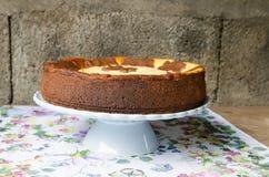Cheesecake z czekoladą i wanilią obraz royalty free