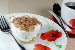 Cheesecake z kawą Zdjęcia Royalty Free