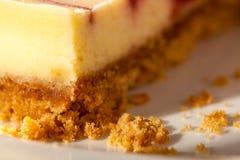 Cheesecake zbliżenie Zdjęcia Stock