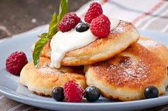 cheesecakes cream прокишут Стоковое Изображение