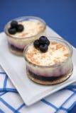 cheesecakes czarnych jagodowe Obrazy Stock