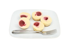 Cheesecakes on a plate Stock Image