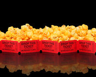 Cheesecorn and a Movie Stock Photography