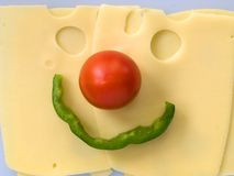 Cheeseface Stockbilder