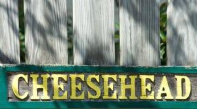 Cheesehead im Holz lizenzfreies stockfoto