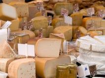 Cheeses. Produce at farmers market Royalty Free Stock Photo