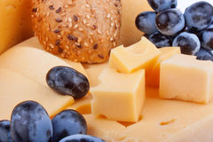 Cheeses background Royalty Free Stock Images