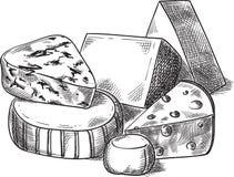 Cheeses. royalty free illustration
