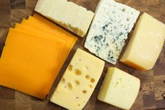 Cheeses Stock Image