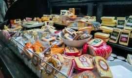 Cheeses displayed in deli in AJ's Fine Foods, Tucson, Arizona Stock Images