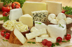 Cheeses group royalty free stock images