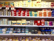 Cheeses and milk derivatives Stock Photo