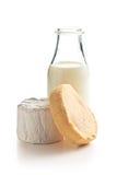 Cheeses and milk Stock Photo