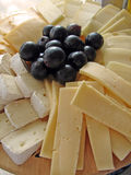 Cheeses plate. Plate with all kind of cheeses Stock Images