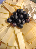 Cheeses plate. Plate with all kond of cheeses Royalty Free Stock Images