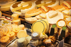 Cheeses shop Royalty Free Stock Image