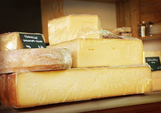 Cheeses shop Stock Photography