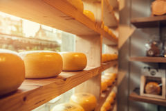 Cheeses shop Royalty Free Stock Photography