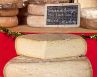 Cheeses Tomme, Grenoble. Cheeses in Grenoble, France Stock Images