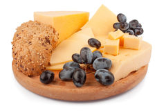 Cheeses on wooden Royalty Free Stock Photo