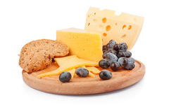 Cheeses on wooden Royalty Free Stock Photography