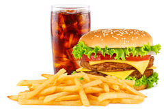 Cheesesburger菜单 库存照片