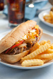 Cheesesteak sandwich Royalty Free Stock Image