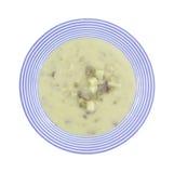 Cheesesteak soup in bowl Stock Photos