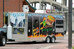Cheesesteaks Walk-Up Food Truck Royalty Free Stock Photos
