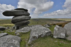 Cheesewring on bodmin moor in Cornwall England UK Royalty Free Stock Images