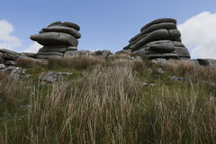 Cheesewring on bodmin moor in Cornwall England UK Stock Photo