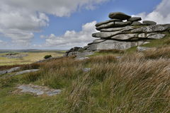 Cheesewring on bodmin moor in Cornwall England UK Stock Images