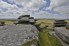 Cheesewring on bodmin moor in Cornwall England UK Stock Image