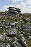 Cheesewring on bodmin moor in Cornwall England UK Royalty Free Stock Image