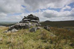 Cheesewring on bodmin moor in Cornwall England UK Royalty Free Stock Photo
