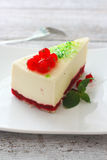 Cheeskake with currants Royalty Free Stock Images