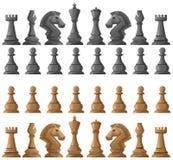 Cheess set pieces on white Stock Photos