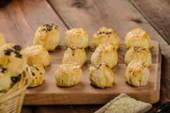 Cheesy Bites with garlic and blue cheese Royalty Free Stock Photo