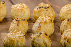 Cheesy Bites with garlic and blue cheese Royalty Free Stock Image