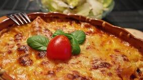 Cheesy casserole royalty free stock photos