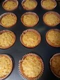 Cheesy cheese cupcakes stock images