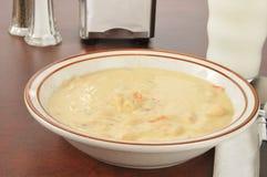 Cheesy chicken soup Stock Photos