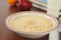 Cheesy chicken soup Stock Photo