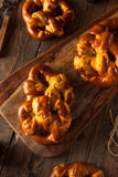 Cheesy German Soft Pretzels Royalty Free Stock Images