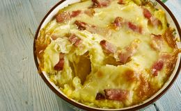 Cheesy Ham and Hash Brown Casserole royalty free stock photos
