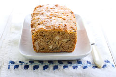 Cheesy herb bread Royalty Free Stock Images