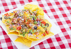 Cheesy Nachos Stock Photography