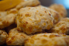 Cheesy Onion Biscuits Stock Photos